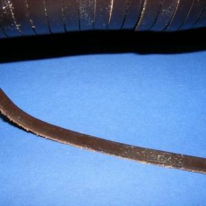 Lapos bőrszíj - 7x2 mm (10. minta/1 m) - sötétbarna (csimbo) - Meska.hu