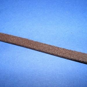 Lapos bőrszíj - 8x2 mm (13. minta/1 m) - feketésbarna (csimbo) - Meska.hu