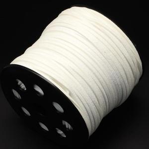 Szarvasbőr utánzat-11 (2,7x2 mm/1 m) - fehér, Vegyes alapanyag, Egyéb alapanyag, Bőrművesség, \nSzarvasbőr utánzat-11 - fehér\n\nMérete: 2,7x2 mm\n\nNyakbavaló alapnak, fonási technikákhoz ajánlott. ..., Meska