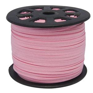 Szarvasbőr utánzat-6 (3x1,5 mm/1 m) - pink, Vegyes alapanyag, Egyéb alapanyag,  Szarvasbőr utánzat-6 - pink  Mérete: 3x1,5 mm  Nyakbavaló alapnak, fonási technikákhoz ajánlott. Fo..., Meska