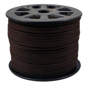 Szarvasbőr utánzat-8 (3x1,5 mm/1 m) - kakaóbarna - Meska.hu