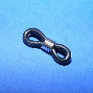 Szemüveg gumi (1 db) - fekete, Gyöngy, ékszerkellék,  Szemüveg gumi - fekete  Mérete: 19x4 mm  Az ár egy darab termékre vonatkozik. , Meska