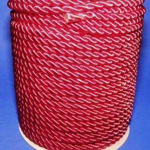 Sodrott zsinór - 5 mm (ZS52SA/1 m) - meggypiros, Gyöngy, ékszerkellék,  Sodrott zsinór (ZS52S/A) - meggypiros  Színes nylon sodrott zsinórAjánlott karkötők, nyakláncok kés..., Meska