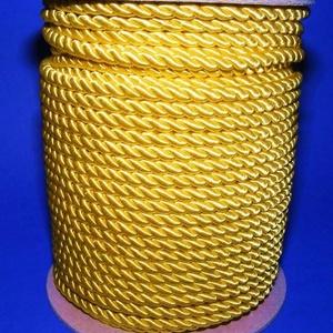 Sodrott zsinór - 5 mm (ZS61S/1 m) - sárga, Gyöngy, ékszerkellék,  Sodrott zsinór (ZS61S) - sárga  Színes nylon sodrott zsinórAjánlott karkötők, nyakláncok készítéséh..., Meska