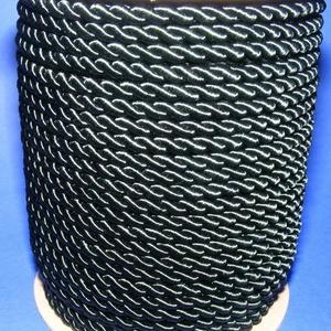 Sodrott zsinór - 5 mm (ZS71S/1 m) - méregzöld, Gyöngy, ékszerkellék,  Sodrott zsinór (ZS71S) - méregzöld  Színes nylon sodrott zsinórAjánlott karkötők, nyakláncok készít..., Meska