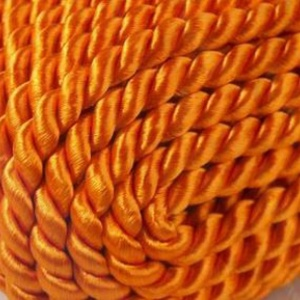 Sodrott zsinór - 5 mm (ZS7353/CS - 1 m) - narancssárga, Gyöngy, ékszerkellék, Ékszerkészítés,  Sodrott zsinór (ZS7353/CS) - narancssárga - Cseh minőség  Színes nylon sodrott zsinórAjánlott kark..., Alkotók boltja