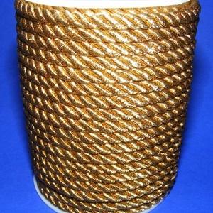 Sodrott zsinór - 5 mm (ZS89/1 m) - aranysárga, Gyöngy, ékszerkellék,  Sodrott zsinór (ZS89) - aranysárga  Színes nylon sodrott zsinórAjánlott karkötők, nyakláncok készít..., Meska