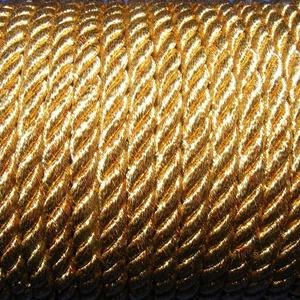Sodrott zsinór - 5 mm (ZS89/1 m) - aranysárga (csimbo) - Meska.hu