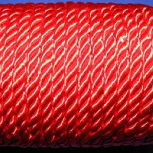 Sodrott zsinór - 5 mm (ZS90/1 m) - piros (csimbo) - Meska.hu