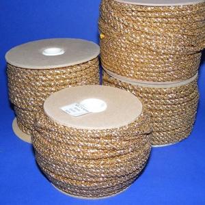 Sodrott zsinór - 6 mm (ZS102/1 m) - arany (csimbo) - Meska.hu