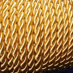 Sodrott zsinór - 8 mm (ZS46/1 m) - aranysárga, Gyöngy, ékszerkellék, Ékszerkészítés, \nSodrott zsinór (ZS46) - aranysárga\n\nSzínes nylon sodrott zsinórAjánlott karkötők, nyakláncok készít..., Meska