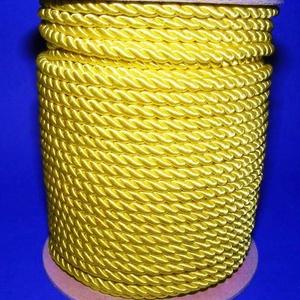Sodrott zsinór - 8 mm (ZS62S/1 m) - citromsárga - Meska.hu