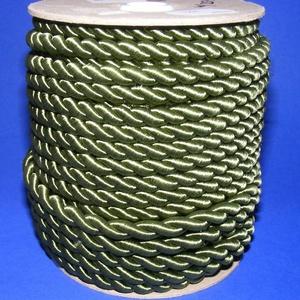 Sodrott zsinór - 8 mm (ZS78S/1 m) - zöld, Gyöngy, ékszerkellék,  Sodrott zsinór (ZS78S) - zöld  Színes nylon sodrott zsinórAjánlott karkötők, nyakláncok készítéséhe..., Meska