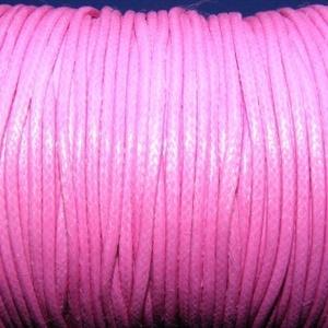 Viaszos zsinór - 2 mm (ZS32. minta/1 m) - pink (csimbo) - Meska.hu
