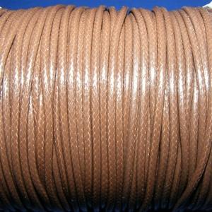 Viaszos zsinór - 2 mm (ZS34. minta/1 m) - négerbarna, Gyöngy, ékszerkellék,  Viaszos zsinór (ZS34. minta) - négerbarna  Nyakbavaló alap, karkötő alap alapanyaga. Fonáshoz, de b..., Meska