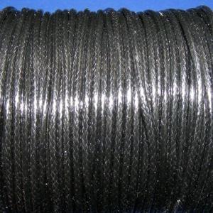 Viaszos zsinór - 2 mm (ZS40. minta/1 m) - fekete (csimbo) - Meska.hu