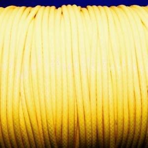 Viaszos zsinór - 2 mm (ZS42. minta/1 m) - sárga, Gyöngy, ékszerkellék,  Viaszos zsinór (ZS42. minta) - sárga  Nyakbavaló alap, karkötő alap alapanyaga. Fonáshoz, de bármil..., Meska