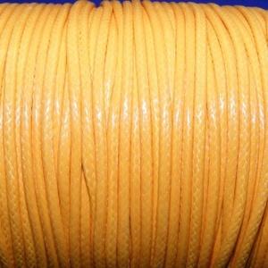 Viaszos zsinór - 2 mm (ZS45/A minta/1 m) - napsárga, Gyöngy, ékszerkellék,  Viaszos zsinór (ZS45/A minta) - napsárga  Nyakbavaló alap, karkötő alap alapanyaga. Fonáshoz, de bá..., Meska