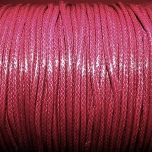 Viaszos zsinór - 2 mm (ZS47. minta/1 m) - bordó, Gyöngy, ékszerkellék,  Viaszos zsinór (ZS47. minta) - bordó  Nyakbavaló alap, karkötő alap alapanyaga. Fonáshoz, de bármil..., Meska
