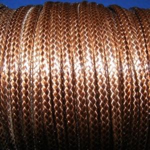 Viaszos zsinór - 3 mm (ZS33. minta/1 m) - kakaóbarna (csimbo) - Meska.hu