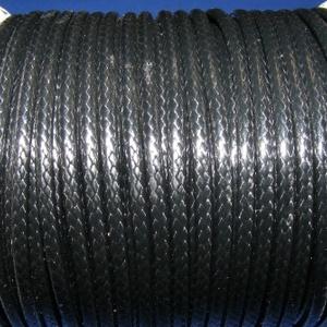 Viaszos zsinór - 3 mm (ZS40. minta/1 m) - fekete, Gyöngy, ékszerkellék,  Viaszos zsinór (ZS40. minta) - fekete  Nyakbavaló alap, karkötő alap alapanyaga. Fonáshoz, de bármi..., Meska