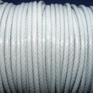 Viaszos zsinór - 3 mm (ZS55. minta/1 m) - szürke, Gyöngy, ékszerkellék,  Viaszos zsinór (ZS55. minta) - szürke  Nyakbavaló alap, karkötő alap alapanyaga. Fonáshoz, de bármi..., Meska
