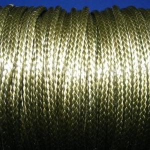 Viaszos zsinór - 3 mm (ZS56. minta/1 m) - olivazöld, Gyöngy, ékszerkellék,  Viaszos zsinór (ZS56. minta) - olivazöld  Nyakbavaló alap, karkötő alap alapanyaga. Fonáshoz, de bá..., Meska
