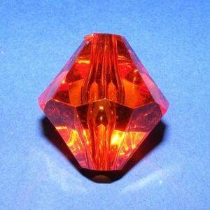 Akril gyöngy-11 (1 db) - narancssárga kristály - Meska.hu