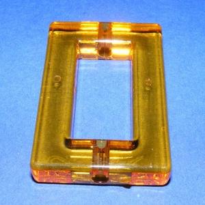 Akril gyöngy-4 (1 db) - narancssárga tégla, Gyöngy, ékszerkellék,     Akril gyöngy-4 - tégla keret - narancssárga   Mérete: 52x34x8 mmFurat mérete: 5 mm  Az ár 1 dara..., Meska
