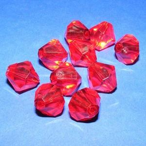 Akril gyöngy-50 (1 db) - piros kristály, Gyöngy, ékszerkellék,     Akril gyöngy-50 - kristály forma - piros  Mérete: 16 mmFurat mérete: 1 mm  Az ár 1 darab termékr..., Meska
