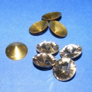 Csiszolt üvegkristály (85. minta/4+4 db) - kerek (csimbo) - Meska.hu