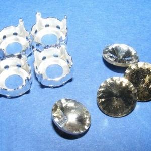 Csiszolt üvegkristály (87. minta/4+4 db) - kerek (csimbo) - Meska.hu