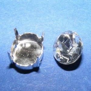 Csiszolt üvegkristály (96. minta/2+2 db) - ovális (csimbo) - Meska.hu