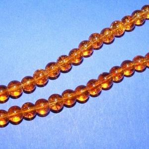 Robbantott üveggyöngy-10 (6 mm/1 csomag) - borostyán (csimbo) - Meska.hu