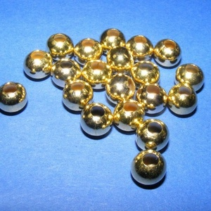 Fém köztes gömb (8 mm/1 db) - arany színű, Gyöngy, ékszerkellék,  Fém köztes gömb - arany színű  Mérete: 8 mm; furat: 3 mm  Az ár egy darab alkatrészre vonatkozik. ..., Meska