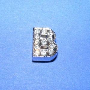 Strassz betű (1 db) - B - gyöngy, ékszerkellék - Meska.hu