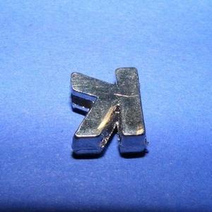 Strassz betű (1 db) - K - gyöngy, ékszerkellék - Meska.hu