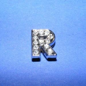 Strassz betű (1 db) - R - gyöngy, ékszerkellék - Meska.hu
