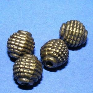Díszes gömb (669/B minta/1 db), Gyöngy, ékszerkellék,  Díszes, öntött gömb (669/B minta) - antik bronz  Mérete: 9x9 mm (furat: 2 mm)  Az ár 1 darab termék..., Meska