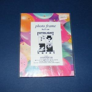 Papír fotókeret-1 (9x13 cm/1 db) - üveglappal, Vegyes alapanyag,  Papír fotókeret-1 - üveglappal - 9x13 cm-es képhez  Mérete: 13,5x17,5 cmKeretvastagság: 2,7 cm   ..., Meska