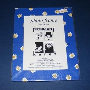 Papír fotókeret-13 (13x18 cm/1 db) - üveglappal, Vegyes alapanyag,  Papír fotókeret-13 - üveglappal - 13x18 cm-es képhez - margarétás  Mérete: 18x23 cmKeretvastagság: ..., Meska