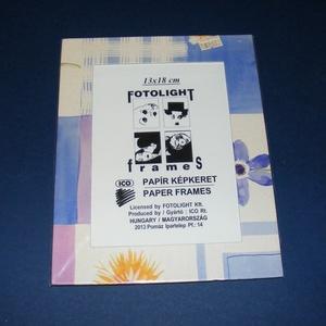 Papír fotókeret-14 (13x18 cm/1 db) - üveglappal, Vegyes alapanyag,  Papír fotókeret-14 - üveglappal - 13x18 cm-es képhez - lila virágos  Mérete: 18x23 cmKeretvastagság..., Meska