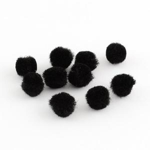 Pompom (Ø 10 mm/10 db) - fekete, Dekorációs kellékek, Figurák,  Pompom - fekete  Mérete: Ø 10 mm  Többféle méretben.Az ár 10 db pompomra vonatkozik.  , Meska