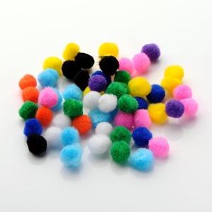 Pompom (Ø 25 mm/5 db) - mix, Dekorációs kellékek, Figurák,  Pompom - mix  Mérete: Ø 25 mm  A csomagban lévő színek eltérhetnek a képen láthatótól.  Többféle mé..., Meska