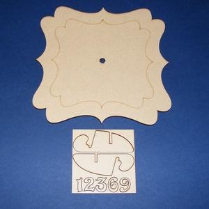 Fa óralap (20x20 cm/1 db) - szögletes/hullámos (csimbo) - Meska.hu