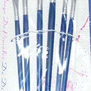 Ecset készlet (kék nyél/6 db-os) - lapos fejű (csimbo) - Meska.hu