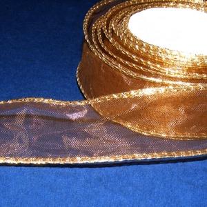Organzaszalag (67. minta/1 m) - barna/arany (csimbo) - Meska.hu