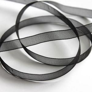 Organzaszalag (74. minta/1 m) - fekete, Textil, Varrás, \nOrganzaszalag (74. minta) - fekete\n\nOrganza szövetből készült szalag, jó tartású csomagolóanyag kiv..., Meska
