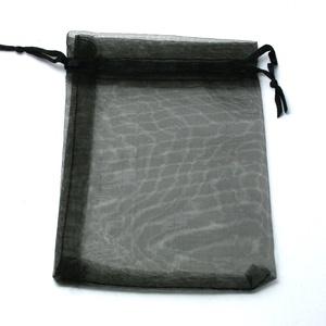 Organzatasak (9,5x11 cm/1 db) - fekete (csimbo) - Meska.hu