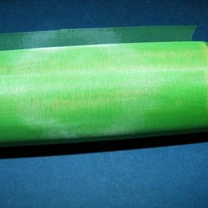 Organzatekercs (45,5 cm/1 m) - zöld (csimbo) - Meska.hu